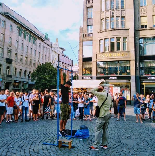 プラハ新市街のヴァーツラフ通り