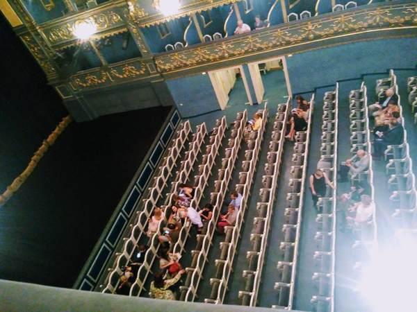 エステート劇場のボックス席から見た1階の座席
