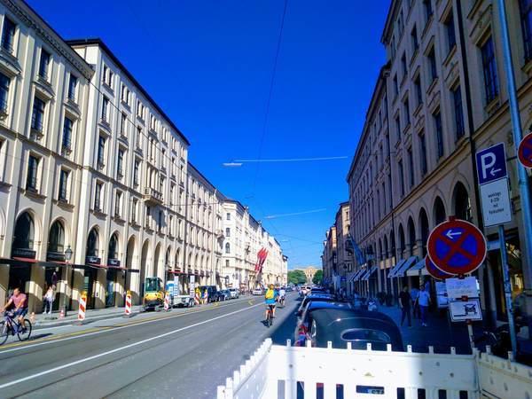 ミュンヘン市内の道路