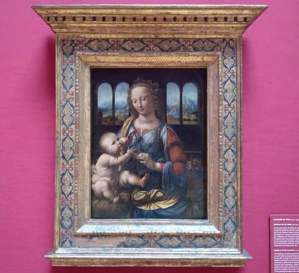 レオナルド・ダ・ヴィンチの『カーネーションを持つ聖母』