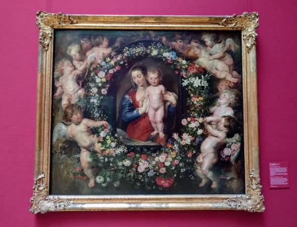ルーベンスの『花輪の聖母』