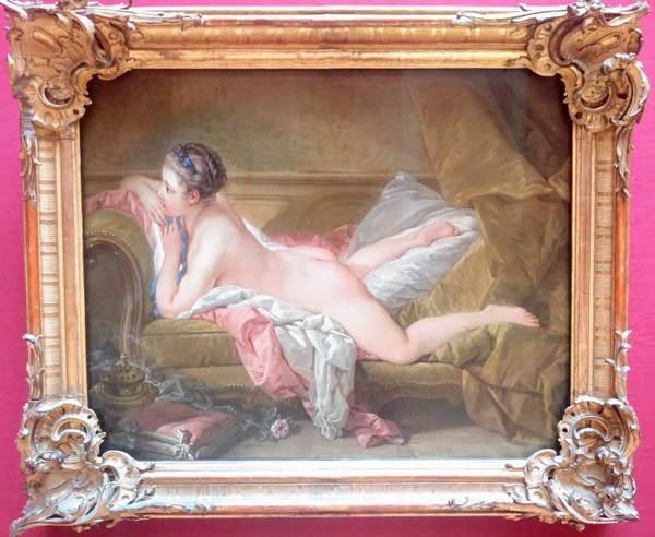 フランソワ・ブーシェの『ソファーに横たわる裸婦』