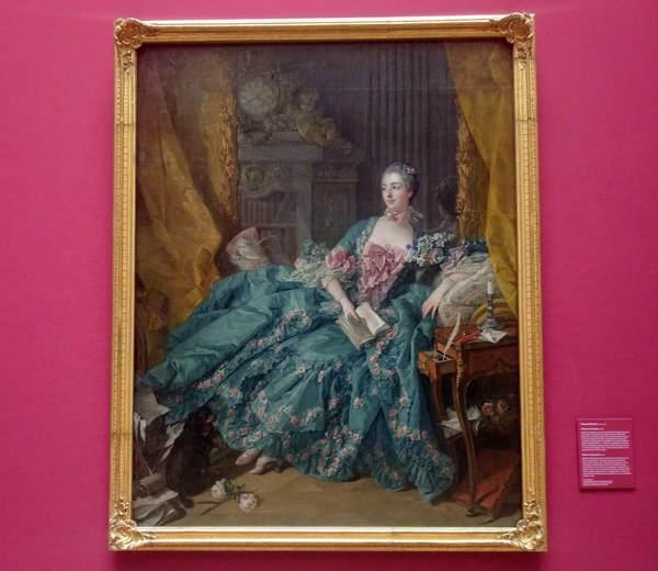フランソワ・ブーシェの『ポンパドゥール夫人の肖像』