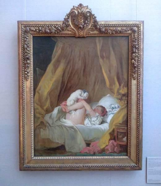 ジャン・オノレ・フラゴナールの『犬と戯れる少女』