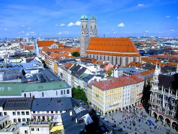 ミュンヘン市内中心部の景観