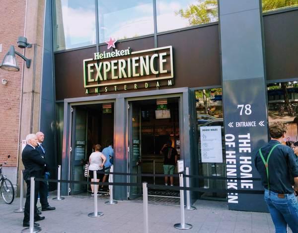 アムステルダムのビール博物館の入口