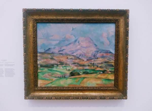 セザンヌの絵画「サント・ヴィクトワール山」