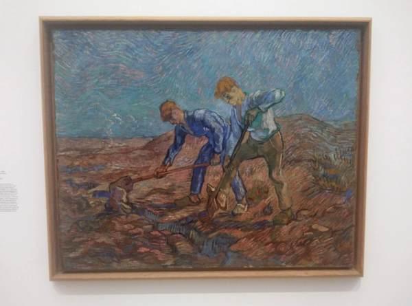 ゴッホの絵画「2人の耕す農夫」