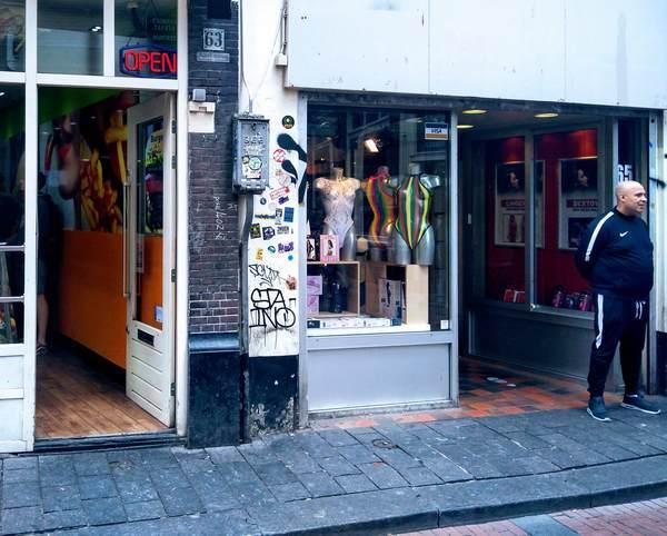 アムステルダムのアダルトショップ