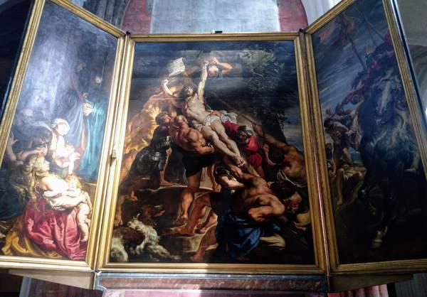 ルーベンスの絵画「キリストの昇架」