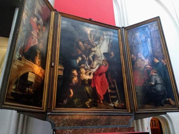 ルーベンスの絵画「キリストの降架」