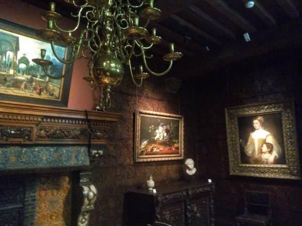ルーベンスハウスの絵画ギャラリーの雰囲気