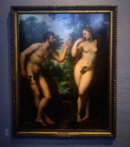 ルーベンスの絵画「楽園のアダムとイヴ」