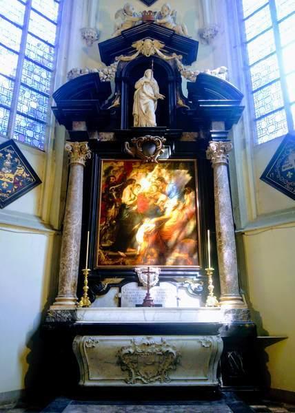 聖ヤコブ教会にあるルーベンスの墓