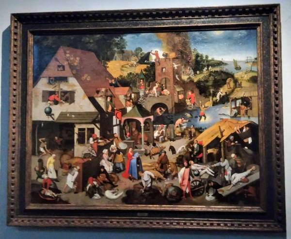 ピーテル・ブリューゲルの絵画『ネーデルラントの諺』