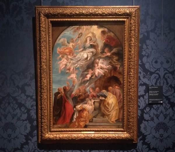 ルーベンス「聖母被昇天」の下絵(マウリッツハイス美術館所蔵)