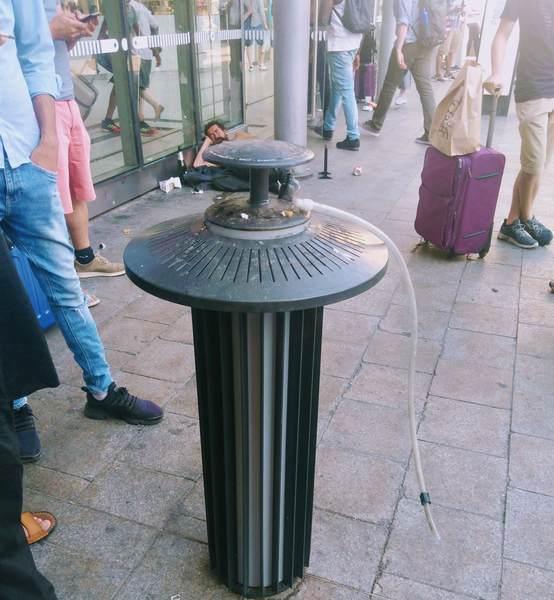 フランスの喫煙スペース