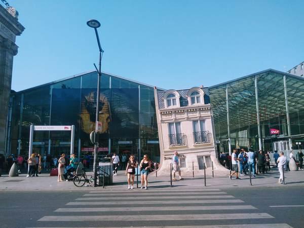 パリ北駅の建物の外観