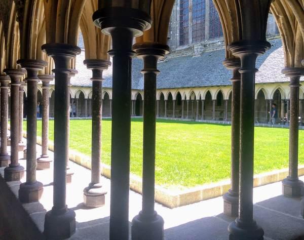 モンサンミッシェルのラメルベイユの回廊