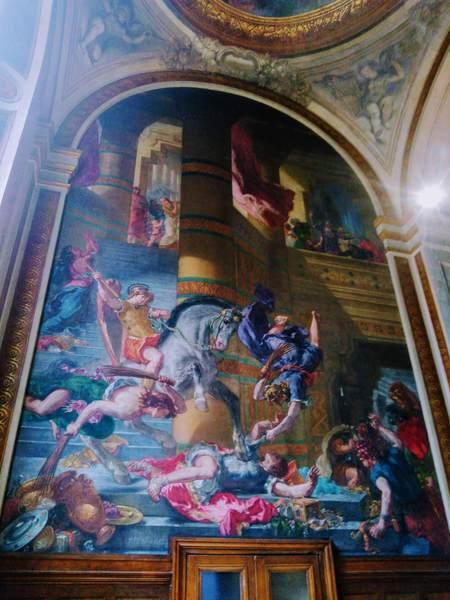 ドラクロワのフレスコ画『神殿を追われるヘリオドロス』