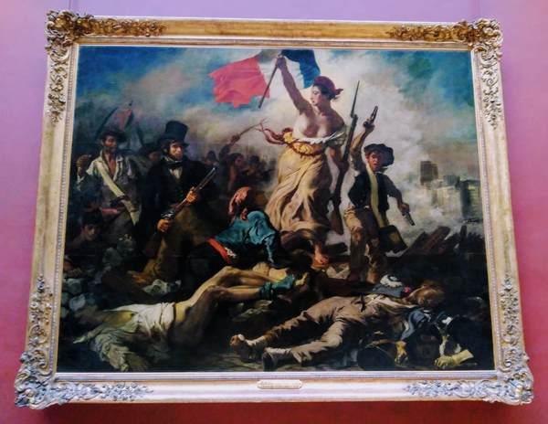 ドラクロワの絵画『民衆を導く自由の女神』