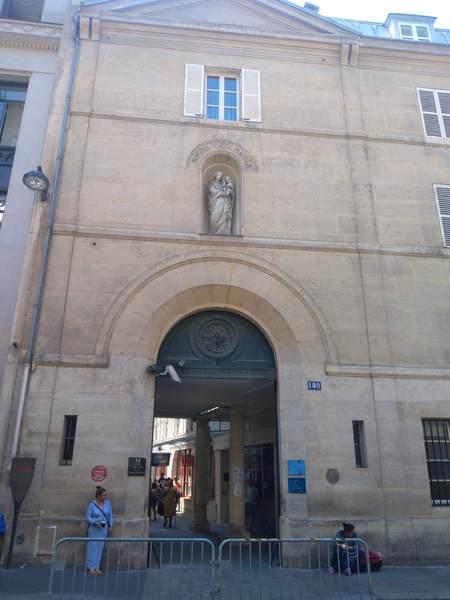 奇跡のメダイユ教会の入口
