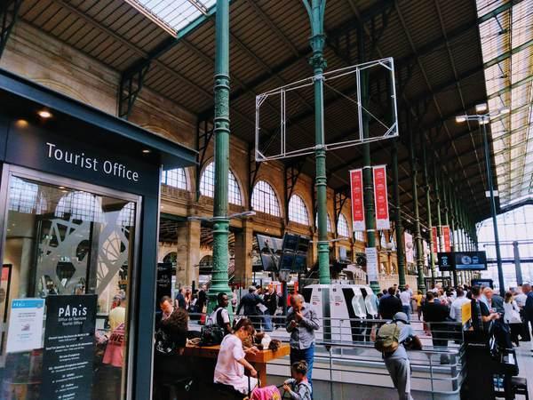 パリ北駅(Gare du Nord)にあるツーリストオフィス