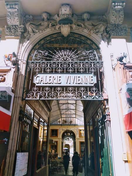 ギャルリー・ヴィヴィエンヌの入口