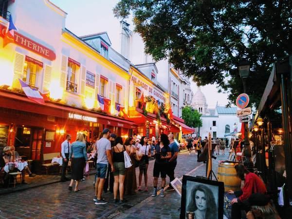 テルトル広場にあるレストラン