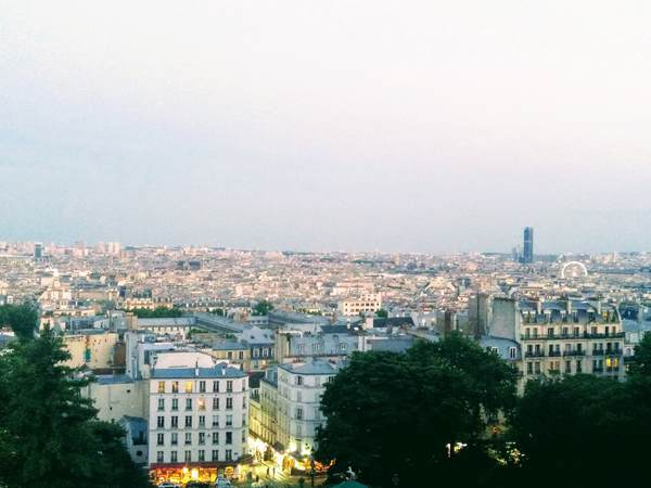サクレクール寺院から見たパリの市街地