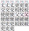 常用漢字の「丈」など