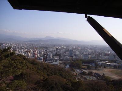 松山城の第二天守閣からの眺め