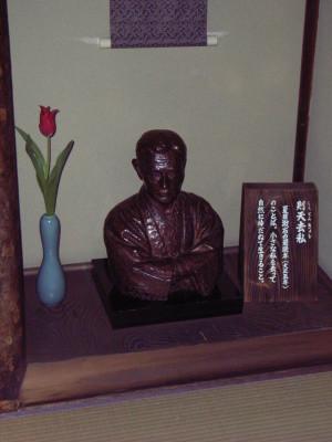 漱石の胸像@道後温泉本館の坊っちゃんの間
