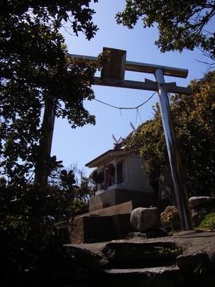 岩の上から海を望む神社@室戸岬
