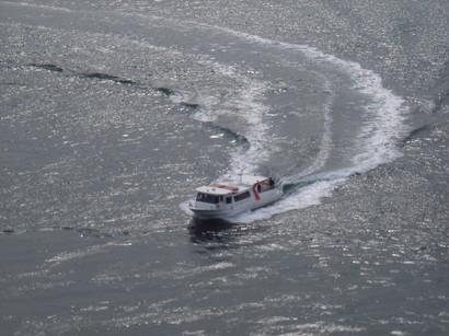 渦の道から見たうずしお汽船@鳴門
