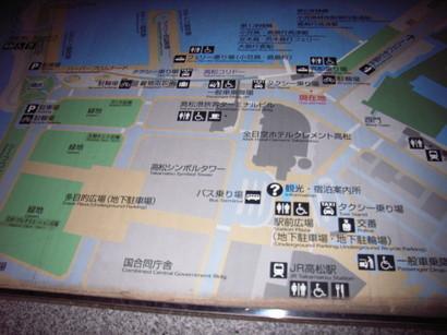 サンポート高松(高松港)の地図