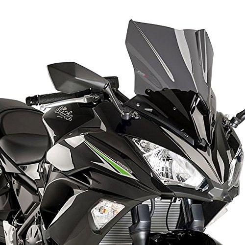 Puig 9711F RACING-SCREEN [DARK SMOKE] Kawasaki Nija650 (17-19) プーチ スクリーン カウル