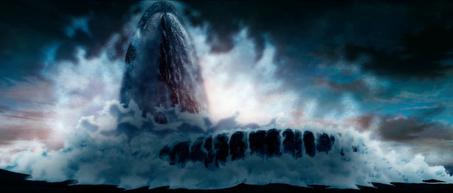 大きく口を開けるザトウクジラ