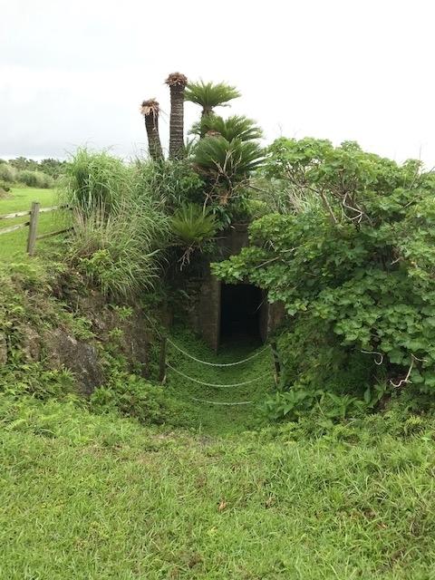 戦争中に使われた洞穴
