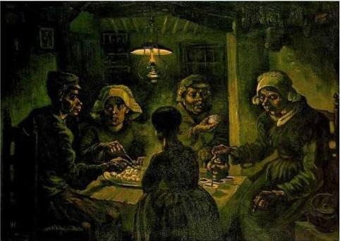 絵画・ジャガイモを食べる人々
