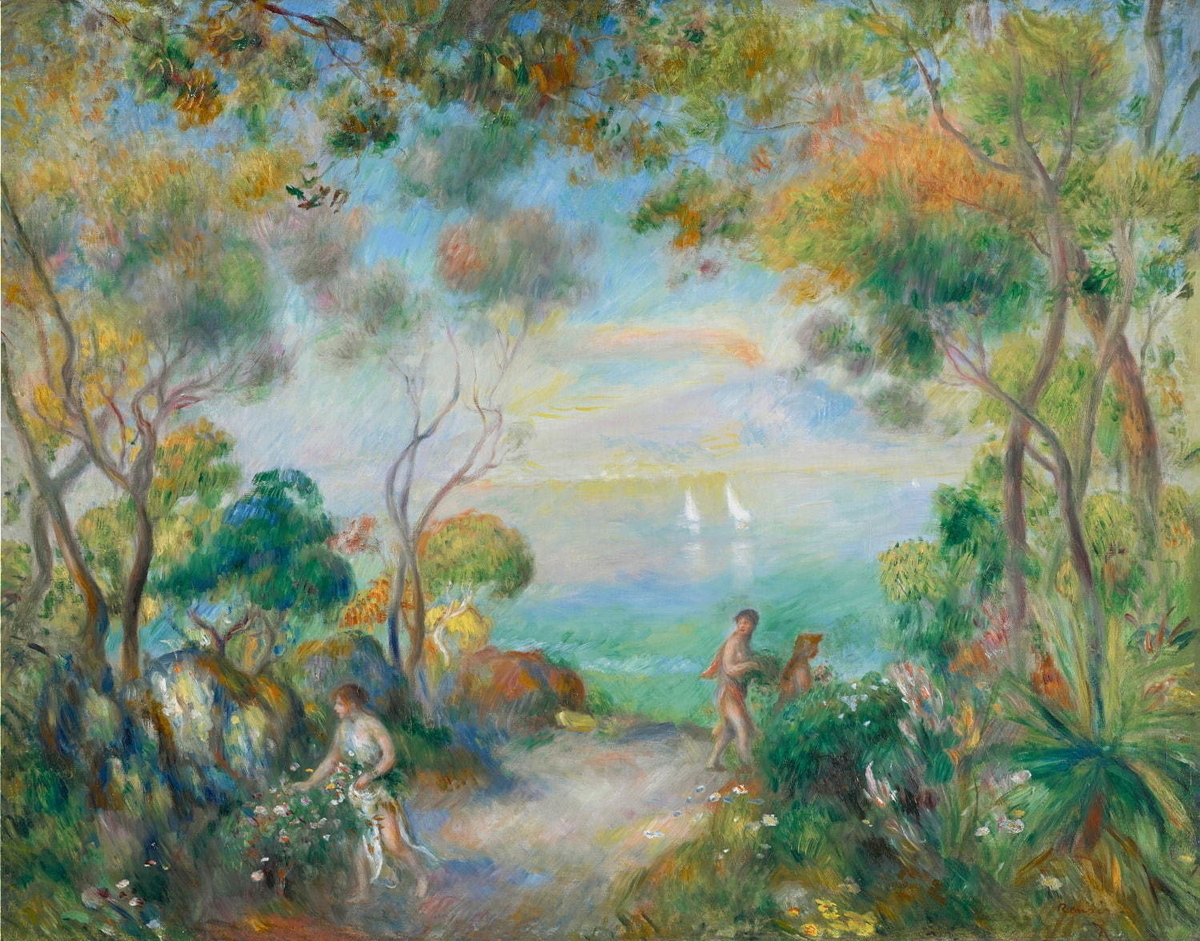 絵画・ソレントの庭・ピエール=オーギュスト・ルノワール