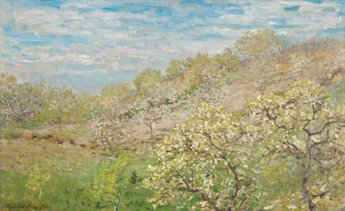 絵画・花咲く林檎の樹・クロード・モネ