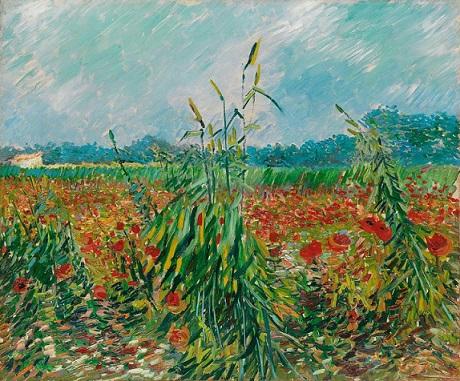 絵画・麦畑とポピー