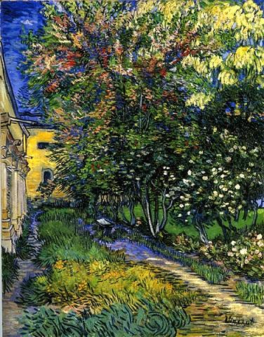 絵画・サン=レミ療養院の庭