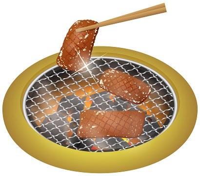 炭火焼肉のイラスト