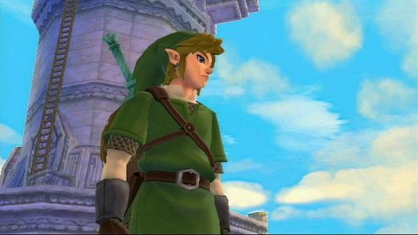 スカイウォードソードのゲーム画像・空を背にしたリンク