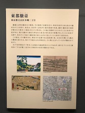 富嶽36景東京で描かれた説明文