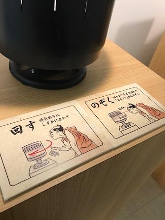 日本が風ゾートロープの説明イラスト