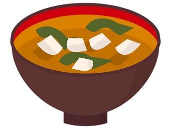 わかめと豆腐の味噌汁のイラスト