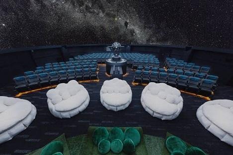 プラネタリウム満天の座席